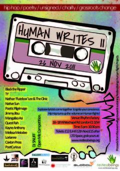 Review: Restless Beings, Human Writes 2 @ RhythmFactory