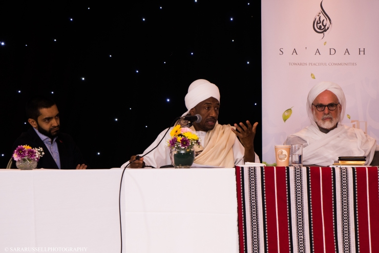 Iqbal Nasim, Chief Executive, National Zakat Foundation (left), Shaykh Babakir (centre), Dr Umar (right)